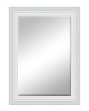 White Wood Frame : white wood frame Contemporary Mirrors
