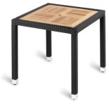 Geneva Teak Top Outdoor Square Table