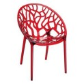 Crystelle plastic chair Red