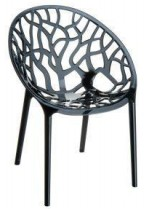 Crystelle plastic chair Black