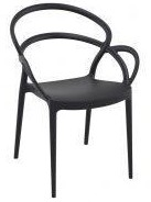 Maye plastic moulded chair Black