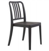 Roxy Outdoor Black Chair
