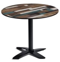 Driftwood Outdoor Table Top on Flip Top Table Base