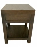 Moon Range Bedside Table with artificial drawer