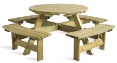 Lynx Zebra Square Outdoor Dining Table