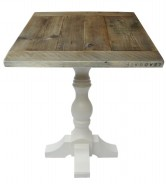 Farmhouse Style Scaffold Table Top on Farmhouse Base