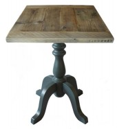 Farmhouse Style Table Top on Classic Table Base