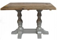 Farmhouse Wooden Double Pedestal