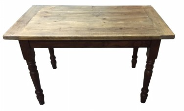 Reclaimed Scaffold Table Top Farmhouse Style B on Farmhouse 4 Leg Base