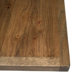 Reclaimed Character Oak Top with straight edge
