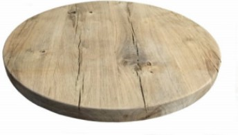 Reclaimed Character Oak Floor Board Table Top With Straight Edging Finished In Driftwood Colour