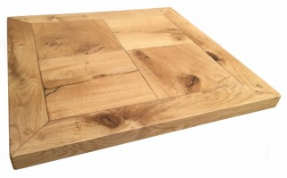 Chequer Style Reclaimed Oak Table Top