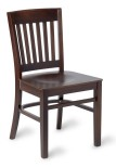 Stock chair Brighton side chair walnut finish