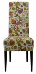 Novara restaurant chair in flowery fabric