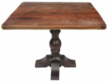 Farmhouse Table Base with Scaffold Board Table Top