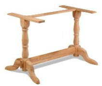 Arundal twin wooden table base