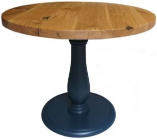 Roman Single Pedestal with character oak table top